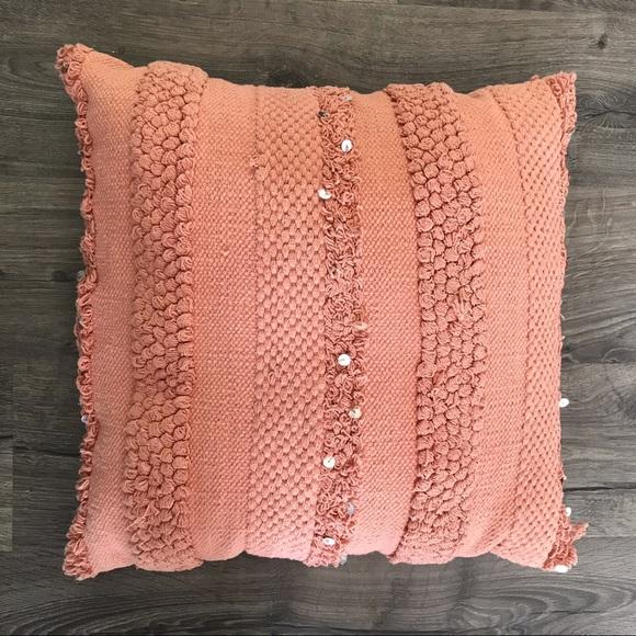 Pier 1 Other - Pier 1 textured season throw accent pillow salmon